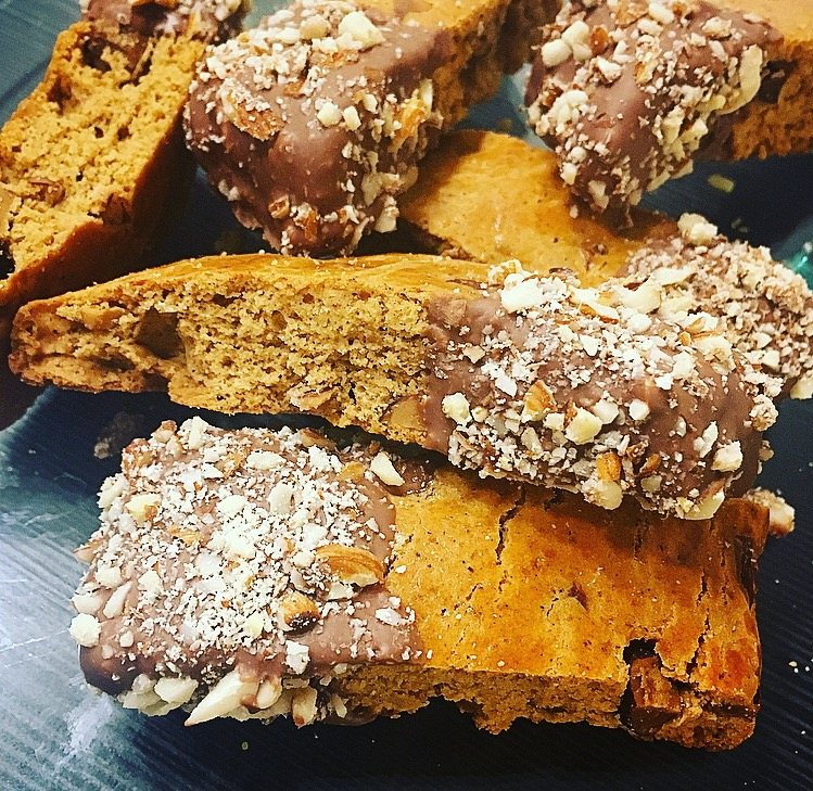 Chokladdoppade mandelbiscotti