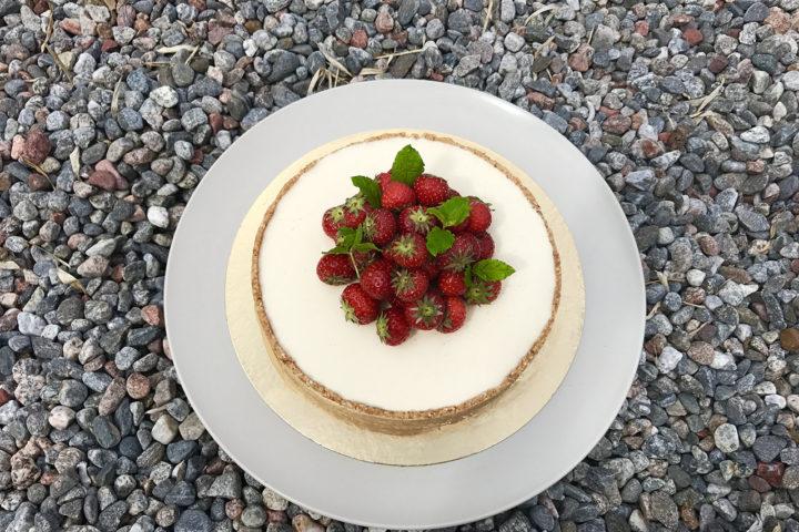 Vit chokladcheesecake